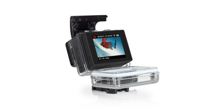 Acessório coloca monitor na traseira da GoPro (Foto: Divulgação)