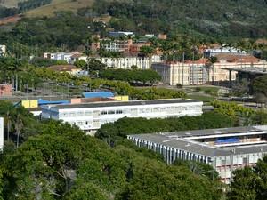 Campus da Universidade Federal de Viçosa UFV (Foto: Nathalie Guimarães/G1)