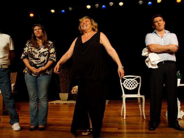 Roberto Arduin, Vanessa Goulart, Bárbara Bruno e Paulo Goulart Filho em peça em cartaz em São Paulo (Foto: Marcos Ribas/ Foto Rio News)