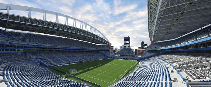 Estádio de futebol americano, CenturyLink Field está no Fifa 16 (Foto: Divulgação/EA)