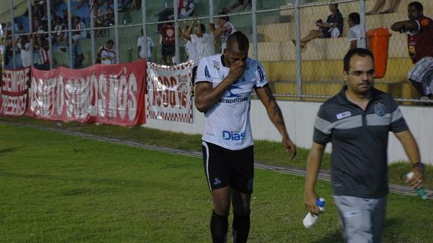 Tiago Chulapa, lesão, Treze, Auto Esporte, Campeonato Paraibano, Paraíba (Foto: Richardson Gray / Globoesporte.com/pb)