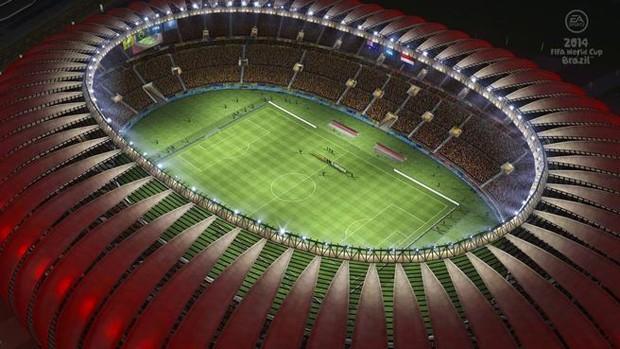 Estádio Beira Rio, do Internacional, retratado no game oficial da Copa do Mundo 2014 (Foto: Divulgação/Electronic Arts)