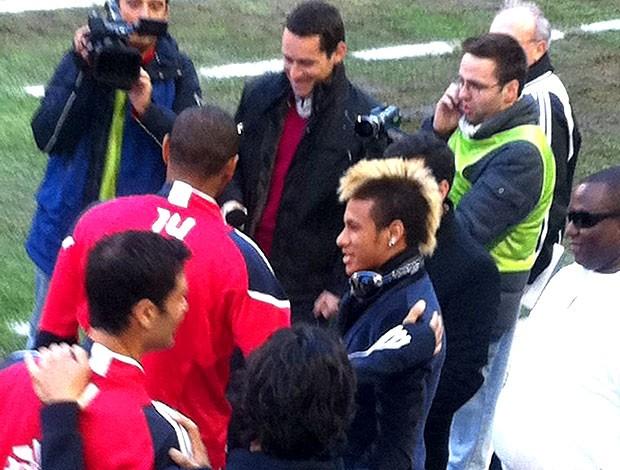 Neymar com Henry no jogo do New York (Foto: Reprodução / Twitter)