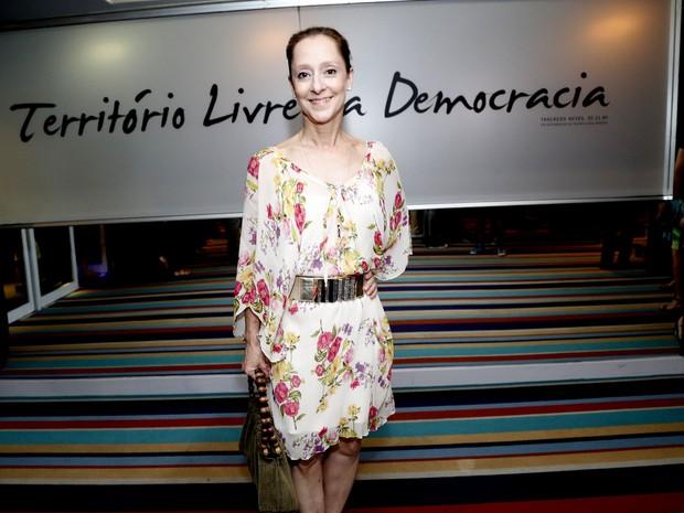 Ana Botafogo em estreia de peça na Zona Sul do Rio (Foto: Felipe Assumpção/ Ag. News)