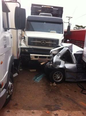 Veículo perdeu o freio; segundo dono, manutenção está em dia  (Foto: Arquivo Pessoal)