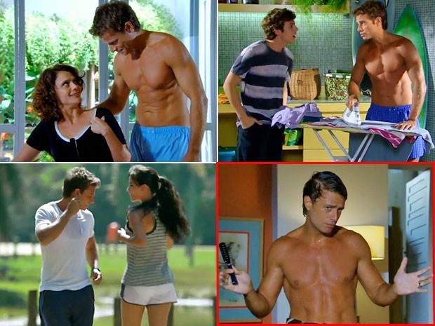 A opção Alejandro saindo do banho cantarolando e dançando foi a mais votada na enquete do site de Cheias de Charme (Foto: Cheias de Charme/ TV Globo)