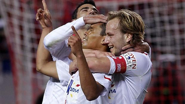 Carlos Bacca, Sevilla x Real Madrid (Foto: EFE)