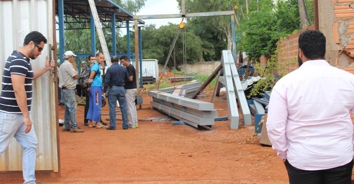 Local onde Cleiton Soldado sofreu o acidente (Foto: Nelio Soares/GloboEsporte.com)