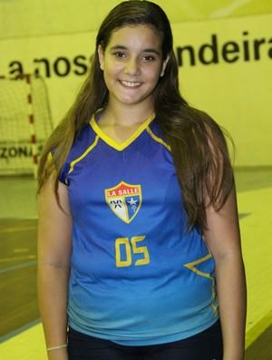 Ágata Cavalcante, foi um  destaques do Lasalle (Foto: Frank Cunha)