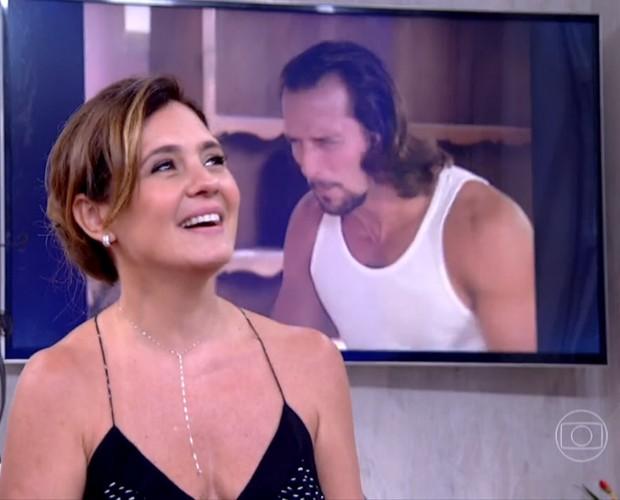 Adriana Esteves comenta recente trabalho ao lado do marido  (Foto: Reprodução/ TV Globo)