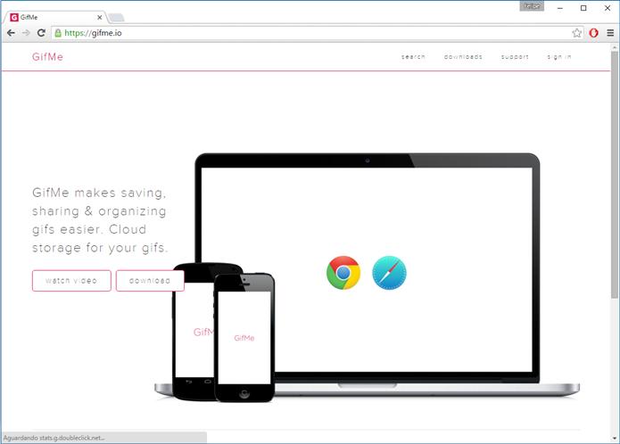 GifMe é uma extensão para Google Chrome (Foto: Felipe Alencar/TechTudo)