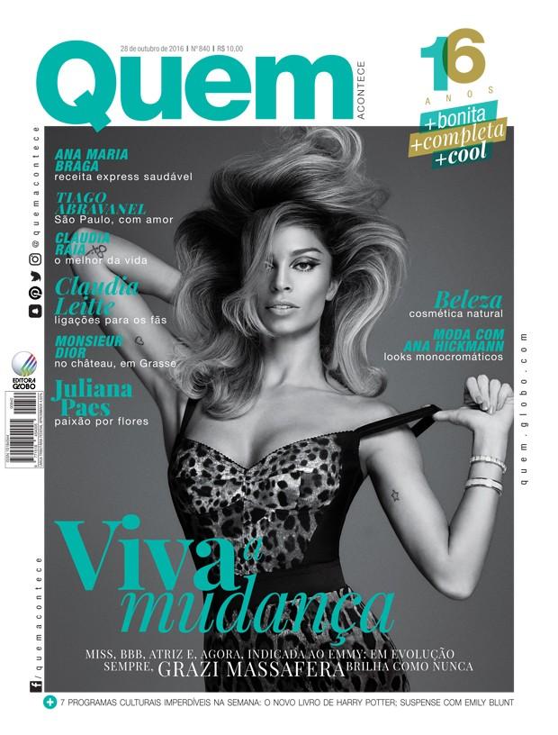 Grazi Massafera é capa da nova QUEM (Foto: Gui Paganini)