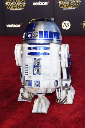 R2-D2 em première em Los Angeles, nos Estados Unidos (Foto: Jason Merritt/ Getty Images/ AFP)