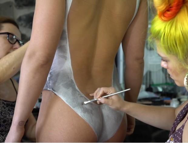 Ronda Rousey pintura corporal