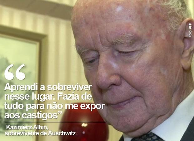 Auschwitz sobrevivente (Foto: AFP)