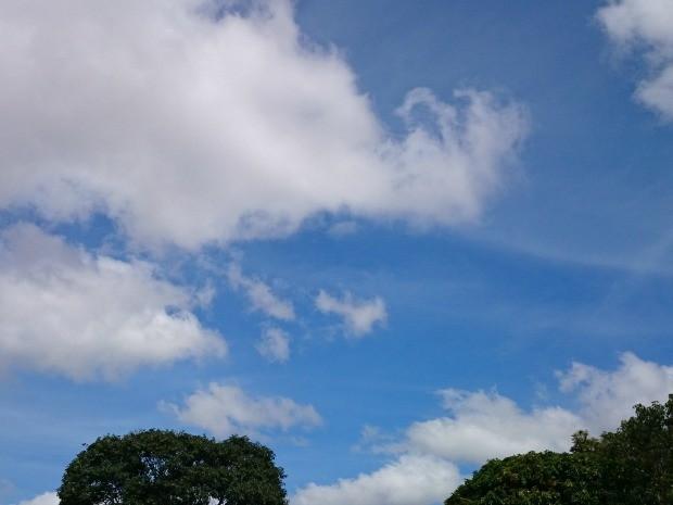 Céu de Campo Grande na tarde desta quinta-feira (5) (Foto: Henrique Shuto/G1 MS)