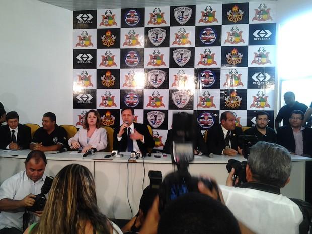 Polícia explica detalhes sobre elucidação do caso Décio Sá (Foto: Zeca Soares)