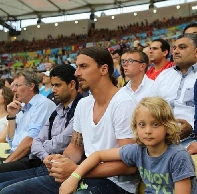 Ibrahimovic, Maracanã, Chile x Espanha (Foto: Reprodução / Instagram)