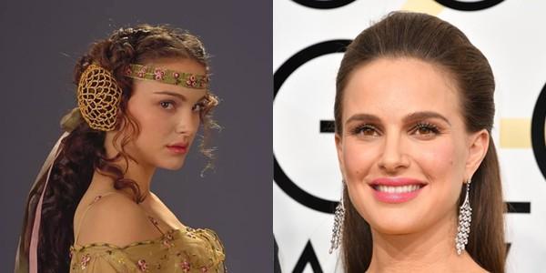 Natalie Portman em 2002 e 2017 (Foto: Divulgao)