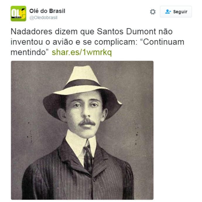 Santos Dumont - Ryan Lochte (Foto: Reprodução/Twitter)