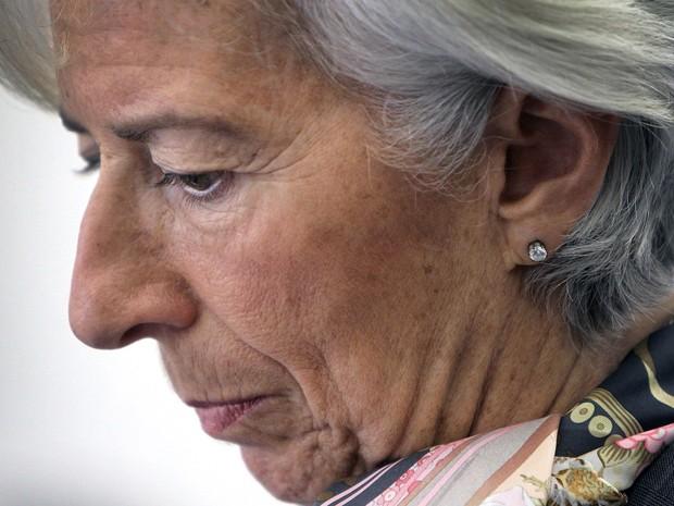 Diretora do FMI, Christine Lagarde, participa de conferência na Universidade Goethe, em Frankfurt. (Foto: AFP)