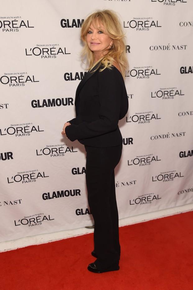 Goldie Hawn em premiação em Nova York, nos Estados Unidos (Foto: Jamie McCarthy/ Getty Images/ AFP)