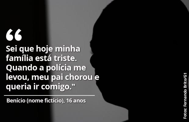 Benício, nome fictício, 16 anos, condenado por estupro coletivo em Castelo do Piauí. (Foto: Fernando Brito/G1)