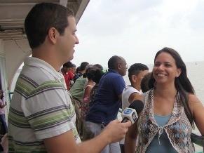 A antropóloga Madian Frazão, na Ilha dos Lençóis (Foto: Divulgação)