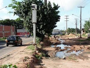 Pavimentação da BR-226 ainda não foi iniciado (Foto: Felipe Gibson/G1)