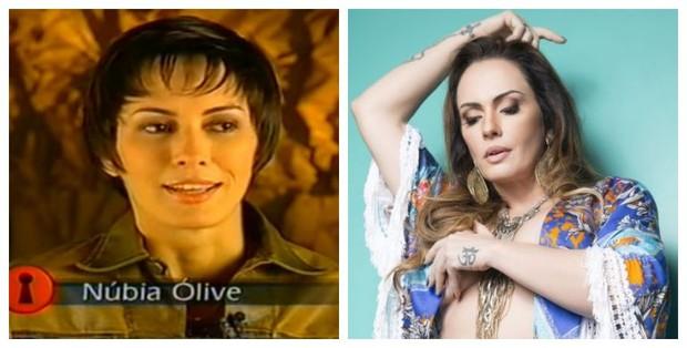 Antes e depois de Núbia Ólliver (Foto: Reprodução de Vídeo | Studio Woody / R2 Assessoria / Divulgação))