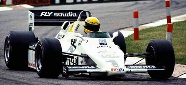 Ayrton Senna Williams 1983 primeiro teste na Fórmula 1 Donington Park (Foto: Reprodução)