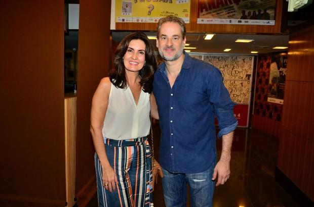 Fátima Bernardes e Dan Stulbach (Foto: Webert Belicio / Ag News )