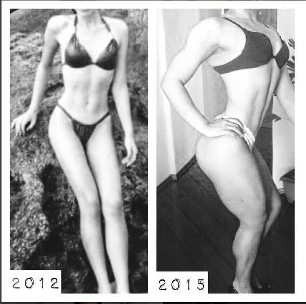 Fernanda Gomes com anorexia, à esquerda, e agor, curada da doença (Foto: Reprodução/Instagram)