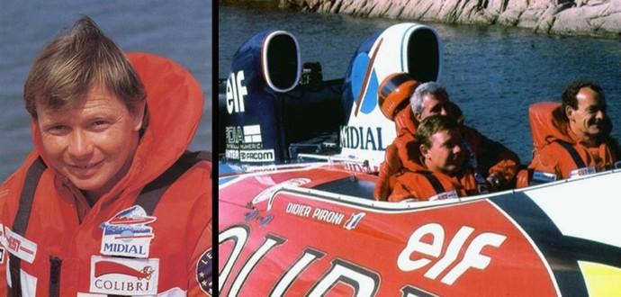 Didier Pironi Fórmula 1 motonáutica powerboat Mundial de Offshore (Foto: Reprodução)