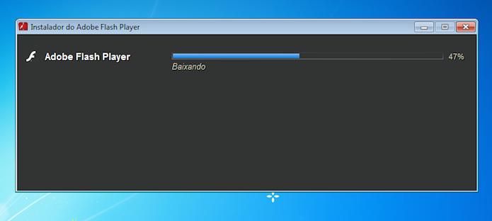Instalador baixando e instalando o programa (Foto: Reprodução/Edivaldo Brito)