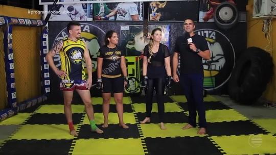 Denise Freitas luta MMA no desafio do 'Programão'