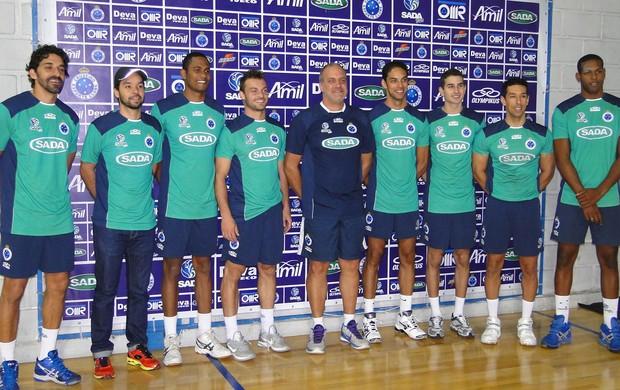 Vôlei Cruzeiro apresentação (Foto: Leonardo Simonini)