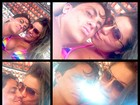 Thammy Miranda troca carinhos com a namorada: 'In love'