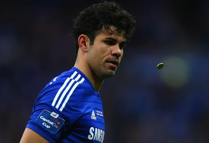 diego costa Chelsea x Tottenham Hotspur (Foto: Getty Images)