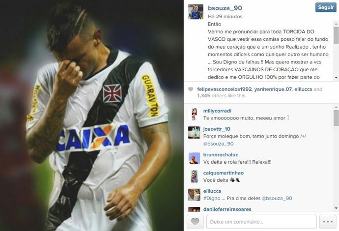 Bernardo, Vasco (Foto: Reprodução / Instagram)