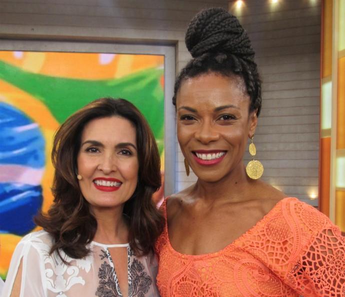 Lica Oliveira deixou o 'Encontro' ainda mais lindo (Foto: Renata Viot/Gshow)