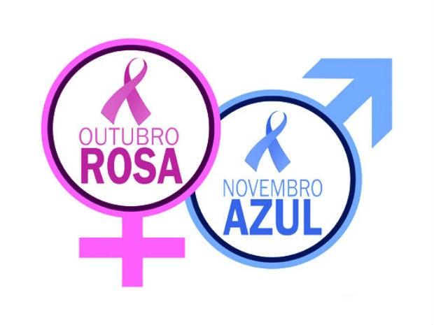 G1 Saúde inicia campanhas Outubro Rosa e Novembro Azul notícias em Rio Preto Noticias -> Decoração Para Outubro Rosa E Novembro Azul