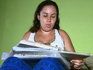 Patricia Liani voltou a estudar após 12 anos parada (Foto: Reprodução/EPTV)