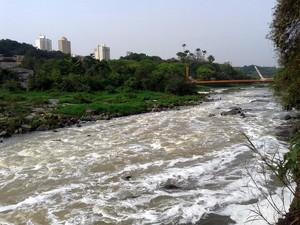 Rio Piracicaba nesta segunda-feira (29)  (Foto: Eduardo Marins/EPTV)