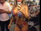 Ex-BBB Vanessa chama atenção na web com barriga definida