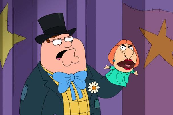 Peter faz piadas sobre Lois em seu programa infantil (Foto: Reprodução/Divulgação)