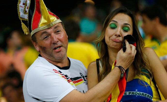 torcida Alemanha x Brasil, Mineirão (Foto: Reuters)