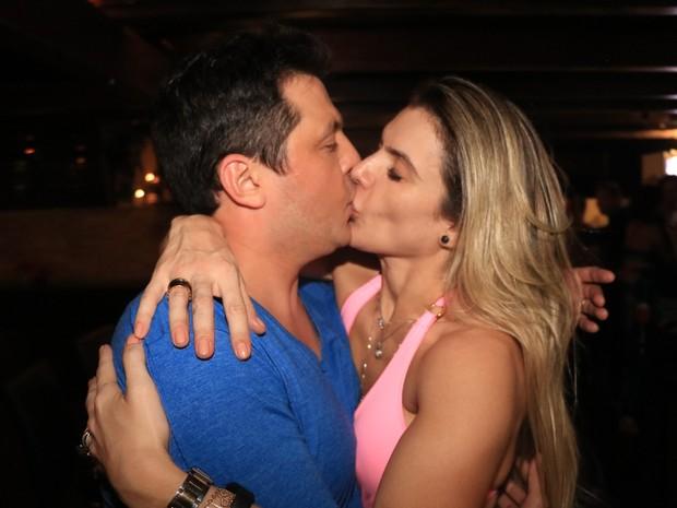 Mirella Santos e Ceará em evento em hotel em Jericoacoara, no Ceará (Foto: Fred Pontes/ Divulgação)