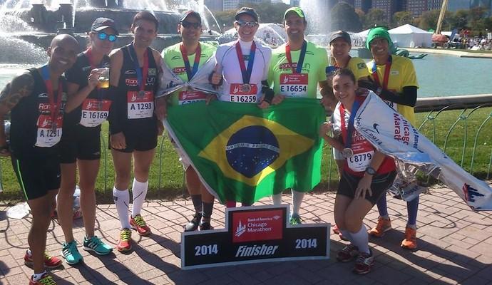 Competidores na Maratona de Chicago (Foto: Divulgação/Arquivo pessoal)