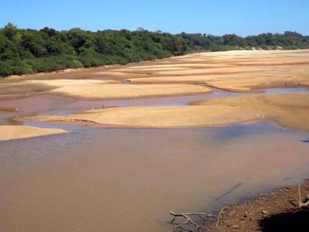 Rio Formoso sofre com o período de estiagem (Foto: Felipe Pimpão/Governo do Tocantins)